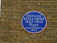 Photo of Stéphane Mallarmé blue plaque