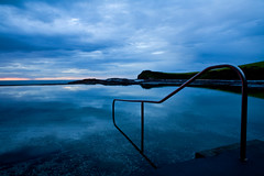 Ocean Baths (norbography) Tags: blue sea reflection water pool clouds sunrise otto vote vote2 gerringong toddnorbury favewww wpmvote anotherwpmvote onzfave