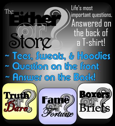 Either or Store T-shirts, Gifts, and More!
