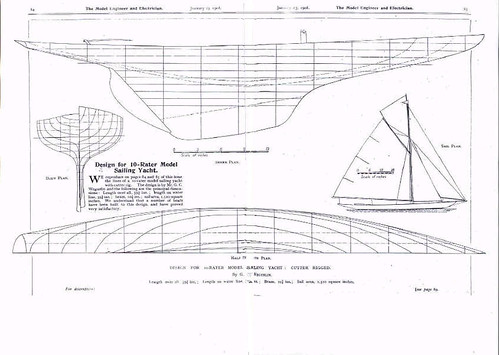 model sailing yacht