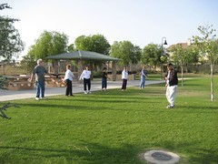 Our T'ai Chi Chih class warms up. (05/21/08)