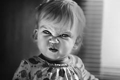 Puckerface. (Kapuschinsky) Tags: throughherlens portrait baby child funny cute childportrait candidportrait candid puckerface sonyalpha sony kapuschinsky naturallight emotive moody blackandwhite bnw blackandwhiteportrait monochrome silly minolta