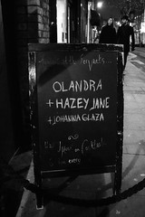 Olandra - IMG_4058 (redrospective) Tags: 2017 20170214 february2017 london servantsjazzclub black chalkboard concert concertphotography gig hat live man music musicphotography musicians people text white woman words