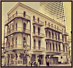 New Orleans   Louisiana  ~ HIBERNIA HOMESTEAD & SAVINGS ASSOCIATION ~ (Onasill ~ Bill Badzo) Tags: new orleans orleanscounty ibernia homestead savings association neworleans la louisiana onasill historic nrhp register balcony architecture italy italian 300 corondelet street cbd central business district restore condos bank condo old vintage photo sepea
