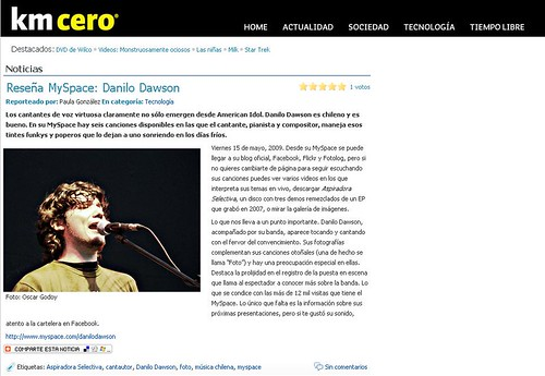 Danilo Dawson en Kilometro Cero