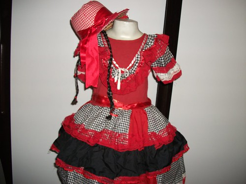 vestidos coloridos para quadrilha