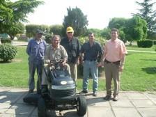 Presentación del Tractor Desmalezador con autoridades comunales