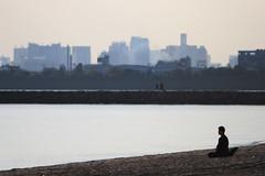 Meditation (mrhayata) Tags: park sea building beach japan geotagged tokyo seaside 日本 東京 meditation koto kasai rinkai 東京都 mrhayata geo:lon=1398534628 geo:lat=356387425