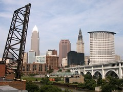 Cleveland skyline from the Superior Viaduct