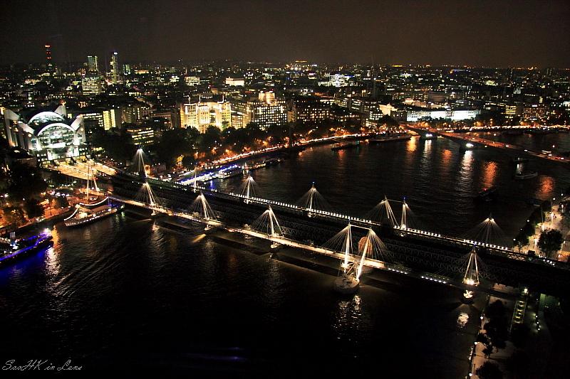 Night Shot of Hungerford Bridge @ London