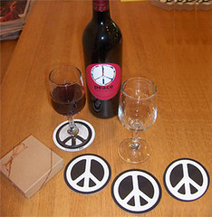 PeaceCoasters (Dr-Chomp) Tags: peace wine symbol paz frieden pace paix