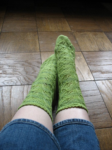 Embossed Leaves Socks 2