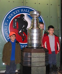 Kids pose with The Cup