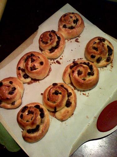 baked pain aux raisins