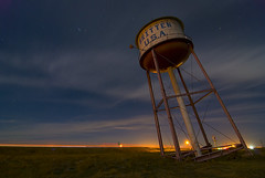 Britten USA (Noel Kerns) Tags: usa tower abandoned water night groom route66 texas britten i40