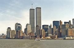 New York: Twin Towers skyline in S. Manhattan (Majorshots) Tags: nyc newyork skyscrapers manhattan financialdistrict twintowers worldtradecentre southmanhattan
