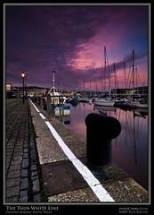 The Thin White Line (Sean Bolton (no longer active)) Tags: sea water swansea wales marina sunrise boat yacht cymru sa1 rver abertawe seanbolton ffotocymrucouk