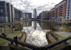HDR - Clarence Dock, Leeds (Tiddler) Tags: west canon geotagged 350d dock yorkshire leeds royal clarence 1022mm hdr 1022 armouries geo:lat=537926125427418 geo:lon=153380141736552