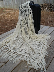Big Square Shawl (irynton) Tags: wool square crochet wrap shawl offwhite stole