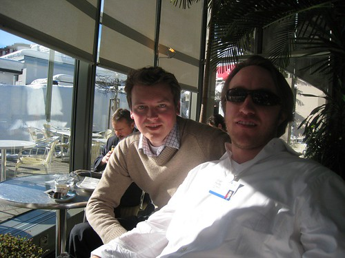 Monty with Chad Hurley, YouTube Founder