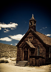Un Jour Il Viendra (code poet) Tags: california sky church topf25 grass topv111 clouds landscape sand topv555 topv333 100v10f creativecommons ghosttown bodie 28135mm