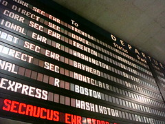 Penn Station Departures