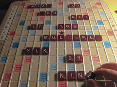 Day 042: The Question (Jess and Colin) Tags: colin scrabble 42 365days day042 366of2008