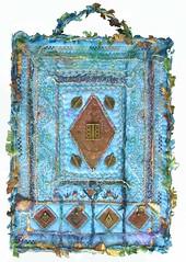 Metal & Braids (Karen Cattoire) Tags: original abstract art handmade originalart creation fabric fiberart tissu abstrait textiledart karencattoire fibretextile arttexilte