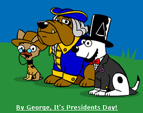 Dogpile Presidents Day Logo