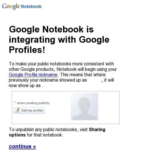 Notebook Profile