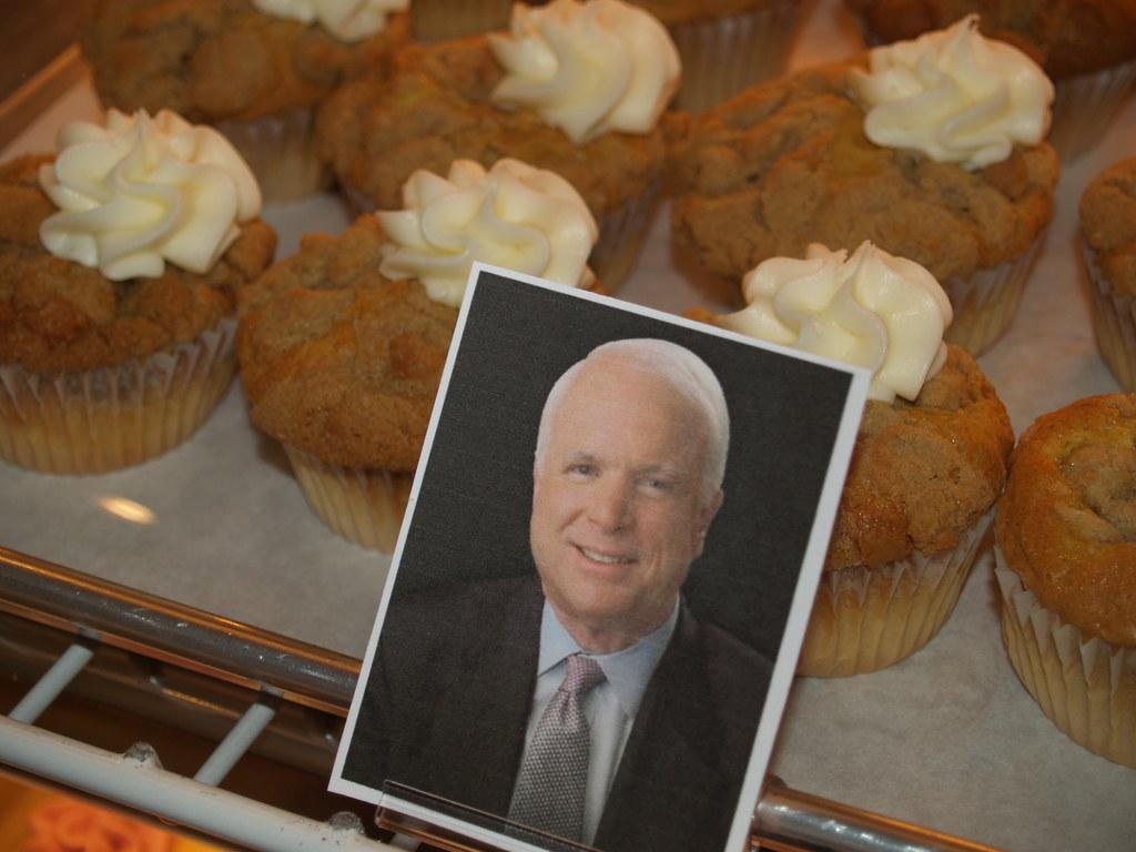 John McCain cupcakes from Hudson, Ohio's Main Street Cupcakes