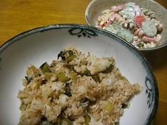 20080318_高菜チャーハン、マカロニサラダ