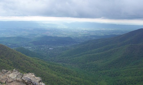 overlook from Hawksbill Mountain
