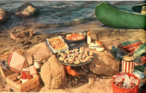 When you cook out in the open... 1 - 1957 (by senses working overtime)