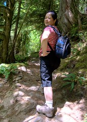 strong hips - for my doctor, the excellent orthopaedic surgeon! (SusanCK) Tags: people woman photographer boots hiking hikingboots stronglegs susanck