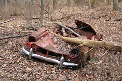 Abandoned 1962-1964 Triumph Spitfire Mark 1 (seventh_sense) Tags: daniels maryland ghost town ghosttown flooded abandoned ruins decay car automobile derelict deserted convertible trumph spitfire overgrown woods forest rust rusty rusted