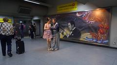 Tango dancers (rrodriguez16) Tags: rarb1950 tango dancers bailarines de unión las lineas b y h del subte metro subway buenos aires argentina