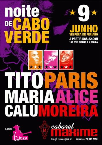 Noite de Cabo Verde no Maxime - 9 Junho