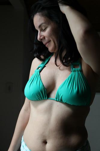 Patricia Green Bikini, loose hair close up