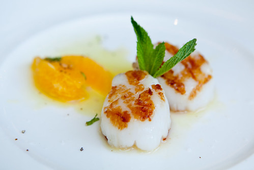 Grilled scallop with citrus salad