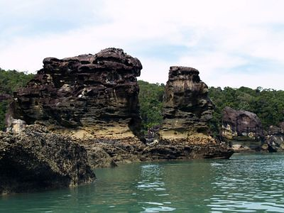 Sphinx sea stack