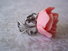 rose ring on filigree