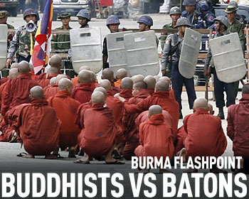 Buddhists vs batons.