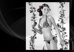 ALTALENA (Francesco Carta) Tags: costume model glamour mare moda natura bikini bagno bianco nero giochi altalena damncool