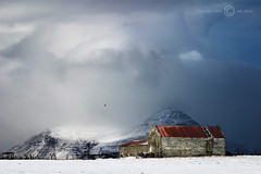 The old Barn (Jokull) Tags: old red sky white mountain snow cold clouds barn rural canon island photo iceland interestingness cool decay country explore photograph topv firstsnow raven kalt weeklysurvivor 1000 sland icelandic fjrhs tihs hlaa onephotoweeklycontest svalt traveltoiceland plljkull cometoiceland