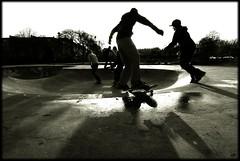 Z-Boyz all about playing (Mayastar) Tags: uk bw glasgow bowl skatepark zboy mayastar