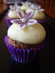 Mini Hummingbird Cupcake (cupcaketastic) Tags: white flower cheese cupcakes engagement hummingbird purple chocolate champagne ivory creamed pearl