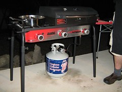 outdoor propane cooker with cook box