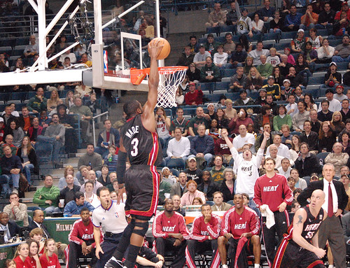 Dwyane Wade takes it home!