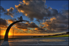 Half Court Heaven (Nick  Carlson) Tags: sunset basketball clouds hoop photography carlson nick hdr highdynamicrange sanpedro basketballcourt hdri angelsgate tonemapped mywinners aplusphoto nickcarlson truelifeimages nickcarlsonphotography
